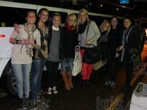 Norwegian girls in Riga with limo