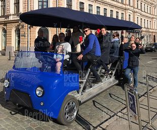 Riga beer bike in old town
